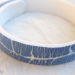 Bracelet craquelé bleu et blanc tout polymère