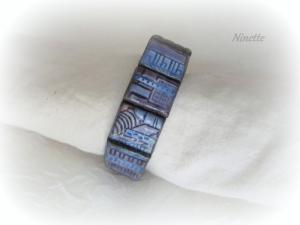 bleu, pâte polymère, bracelet