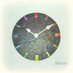 pâte polymère, Fimo, horloge