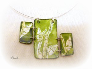 pendentif, vert, batik, rectangle