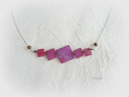 pâte polymère, Fimo, collier, transparente