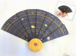 Fimo, pâte polymère, système solaire, éventail, challenge