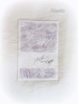 carte de vœux, pâte polymère, encres, tampons