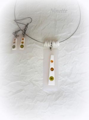 transparent,pâte polymère,pendentif,bo