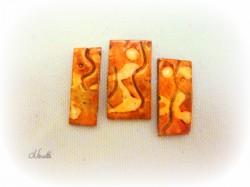 batik, orange